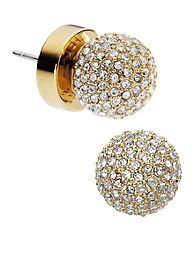 Michael Kors Jewelry Pave Stud Earrings - Love!