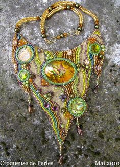 Beautiful embroidered jewelry by Theresa Labriet
