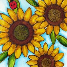 Original Floral Painting by Renata Lombard Cool Paintings, Original Paintings, Original Art, Acrylic Painting Canvas, Canvas Wall Art, Mexican Paintings, Wine And Canvas, Summer Painting, Sunflower Art