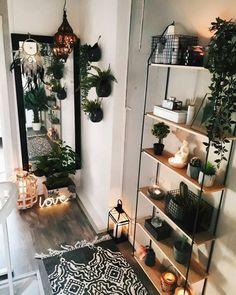 boho Living Room Decor With Plants Living Room Plants Decor, Room With Plants, Boho Living Room, Scandinavian Style Home, Aesthetic Room Decor, Hallway Decorating, Living Room Designs, Bedroom Decor, Decor Room