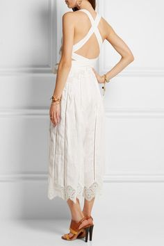 Zimmermann | Empire Virtue guipure lace-paneled linen jumpsuit | NET-A-PORTER.COM