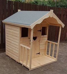 Solid Wooden Childrens Playhouse/Wendy House Rabbit Hutch Dog Kennel Top Quality