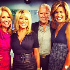 Kathie Lee Gifford and Hoda with actress, television host and author Suzanne Somers and her husband Alan Hamel