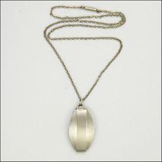 Art Deco locket with chain, 1920s, British hallmarks