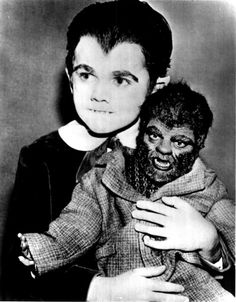 .Eddie Munster and fang. Now kiss wolfie goodnight.