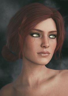 Triss Merigold | The Witcher 3 Fanart by Lehira-Rutherford.deviantart.com on @DeviantArt