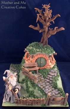 INSPIRATION - Lord of the Rings, Hobbit Bag End cake