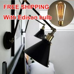 37.43$  Buy now - Vintage wall scone light E27 plated Loft american retro vintage iron lamp Antique wall lamp industrial E27 Bulb Fixtures  #aliexpress