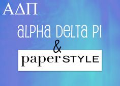 We Live For Each Other! Paper Style is an official licensed site for ADPi Greek stationery products. We have a unique collection of personalized Alpha Delta Pi thank you notes, notepads, return address stickers and announcements. All of these sorority items are perfect gifts for new members, executive council and even alumni! Show your Alpha Delta Pi spirit and pride by ordering yours today!