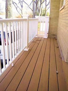 Azek cobre color decking. Clarendon Hills, Illinois porch by A-Affordable Decks