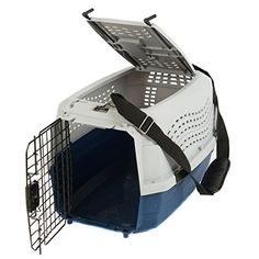 Favorite Portable Two Door Pet Carrier 23 Inch by 15.5 Inch by 13.5 Inch, Free Strap, Blue -- To view further for this item, visit the image link.
