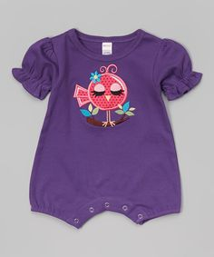Look at this Purple Bird Romper - Infant on #zulily today!