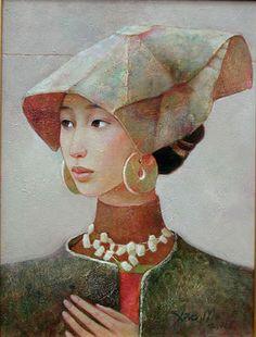 Portrait de la pintora china Xue Mo, en www.anatrigo.es