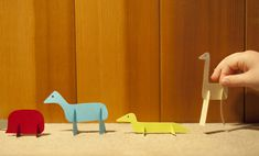 Made by Joel » Paper Slotted Animal Toys #Printables #kids