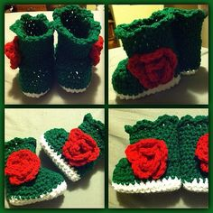 Msu rosebowl champ inspired baby booties! I wuv them. #msu #babymode #babybooties #crochet #crafty #handmade #michiganstate #rosebowl #rosesaregreen #instagood #instapic #handcrafted #love #preggo #pregnant #Padgram