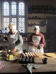 Kentwell Hall, is a stately home in Long Melford, Suffolk, England. Victorian cooks.