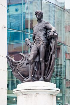 Birmingham - Nelson Monument by Richard (later Sir Richard) Westmacott. 1807-09. The Bull Ring, Birmingham City Centre, UK | Flickr - Photo Sharing!