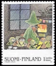 Snufkin and friends stamp Tove Jansson, Children's Book Illustration, Illustrations, My Stamp, Stamp Collecting, Mail Art, Postage Stamps, Polka Dot, Artwork