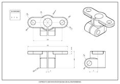 3D CAD EXERCISES 379 - STUDYCADCAM 3d Autocad, Engineering Classes, Cad Drawing, Mechanical Design, Drawing Practice, 3d Modeling, Planer, Geometry, Diagram
