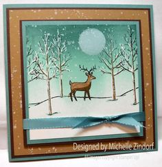 White Christmas Deer - MZ by Zindorf - Cards and Paper Crafts at Splitcoaststampers