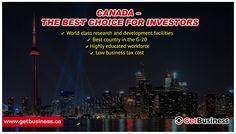 Discover the advantages of investing in Canada more info www.getbusiness.ca  #InvestinCanada