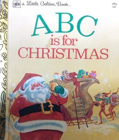 ABC is for Christmas Little Golden Book by Lonestarblondie on Etsy