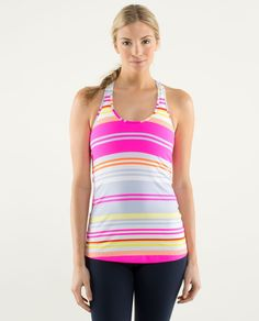 cool racerback | women's tanks | lululemon athletica | color: groovy stripe multi | Lululemon.com