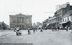 Photo of St Albans, Market Place 1921 from Francis Frith St Albans, Town Hall, Past, Louvre, England, Street View, Backyard, City, Building