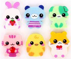 6 süsse Baby Tiere Radiergummi aus Japan kawaii Kawaii: