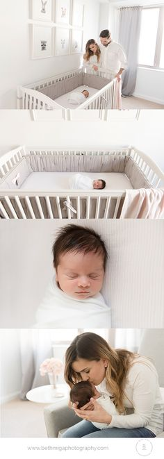 newborn photography | newborn in nursery | in home lifestyle newborn session | newborn in crib | newborn photography in Boston MA