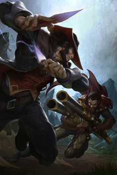Twisted Fate vs. Graves fan art