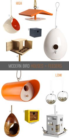 Modern Birds: A list of top 10 bird houses and feeders in high/low price ranges