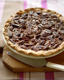 Martha Stewart Pecan Pie Recipe - Essential for Thanksgiving. I don't like pecan pie but I will eat this. Just Desserts, Delicious Desserts, Yummy Food, Holiday Desserts, Dessert Healthy, Christmas Recipes, Pecan Pie Recipe Martha Stewart, Dessert Crepes, Dinner Dessert
