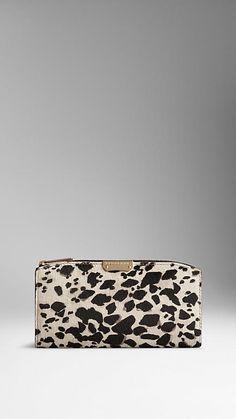 Animal Print Calfskin Continental Wallet | Burberry