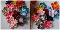 Little Treasures: How to read round crochet charts and a free flower pattern
