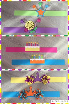 Verjaardagskronen van te voren maken. Hat Crafts, Diy And Crafts, Crafts For Kids, Paper Crafts, I Love School, Back To School Gifts, Preschool Birthday, Preschool Crafts, Paper Hat Diy