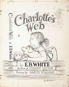 • Garth Williams, illustrazione per Charlotte's web di E.B. White: «le parole ti salveranno»  |  »suggerito tramite anobii da