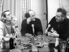 Interview with Georges Brassens, Jacques Brel and Leo Ferre (january Rock N Folk, Image Paris, Charles Mingus, Studio Theater, Nicolas Sarkozy, French Songs, Famous Photos, Ferrat, Music Film