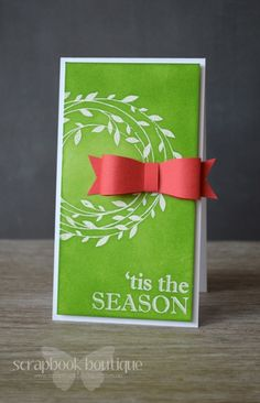 With out the bow......... Lostinpaper - SB Nov Hop - Hero Arts 'tis the Season Christmas Card with bow