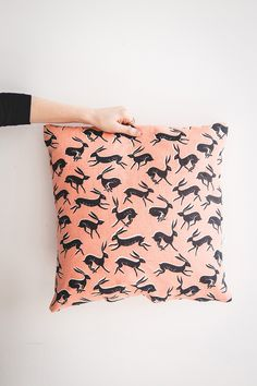 'Hare' cushion - Rosie Moss