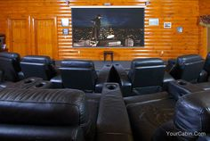 Movie Room Lodge cabin in Sevier County  Wears Valley   photo  1097