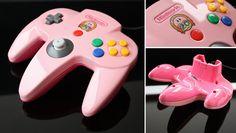 custom Kirby's 20th anniversary N64 controller by Zoki64