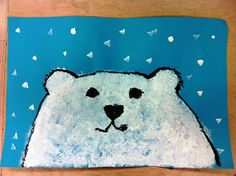 Teacher example.     This week I introduced sponge painting to my kindergarteners. This is a  completely new technique to them. We discus...
