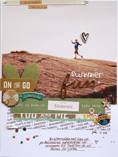 #papercrafting #scrapbook #layout -  Summer fun by Sockergrynet - Scrapbooking Kits, Paper & Supplies, Ideas & More at StudioCalico.com!