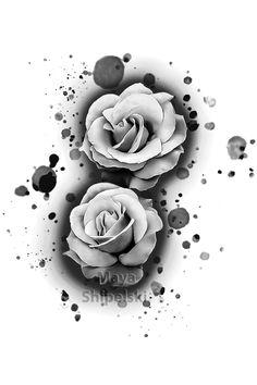Floral Tattoo Design, Tattoo Designs, Brian Hughes, Realistic Rose Tattoo, Mexican Tattoo, Breast Cancer Tattoos, Dark Art Tattoo, Tattoo Transfers, Desenho Tattoo
