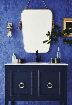 We have your walls and floors covered with the hottest tile trends and tips on installation and upkeep. Small Bathroom Cabinets, Bathroom Mirror Design, Bathroom Trends, Bathroom Colors, Bathroom Styling, Bathroom Interior Design, Bathroom Faucets, Bathroom Ideas, Green Bathrooms