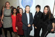 Nicolla Hewitt, Uma Pemmaraj, Manda Zand Ervin, Mrs. Ban Soon-taek, Aldijana Sisic and  Muna Rihani al Nasser. Photo by: Owen Hoffman/ Patri...