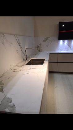 Dekton Aura worktops by The Marble Store. This ultra compact material is ultra modern and bang on trend.