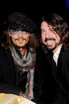 Johnny Depp and Dave Grohl - A picture both my daughter and I can agree on.