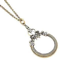 Magnifying Glass Necklace Z5 Clear Crystal Floral Gold Tone Long x Recyclebabe Necklaces http://www.amazon.com/dp/B00OM5N7OK/ref=cm_sw_r_pi_dp_.ec8wb0VG6SYW